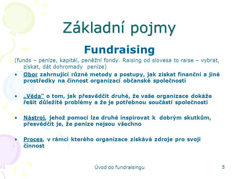 Základní pojmy Fundraising