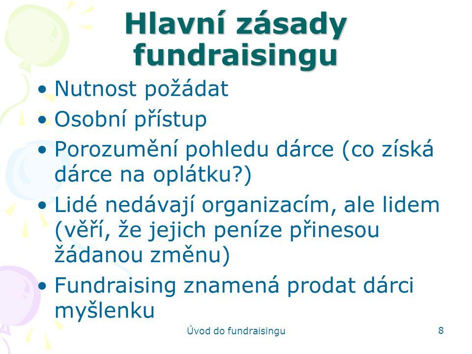Hlavní zásady fundraisingu