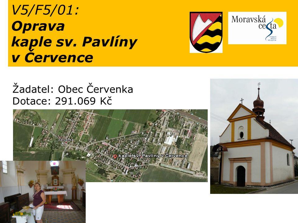 Oprava kaple sv. Pavlíny v Července