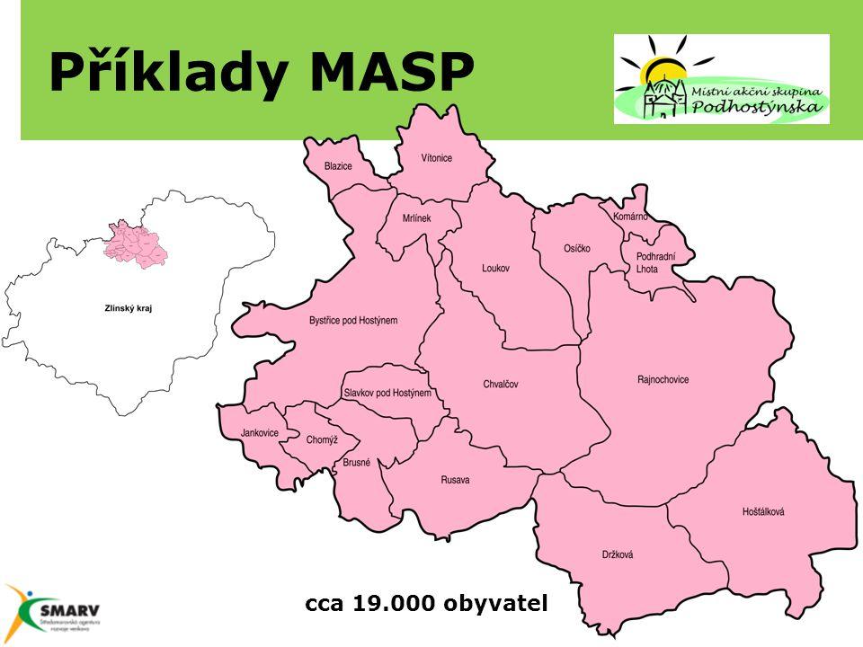 Příklady MASP cca 19.000 obyvatel