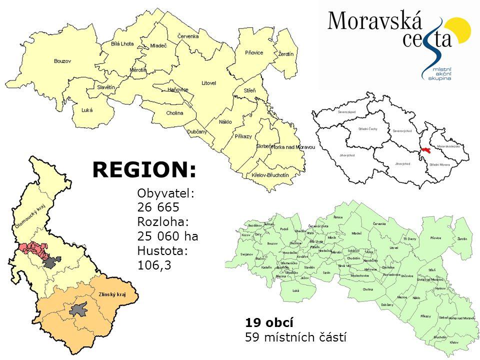REGION: Obyvatel: 26 665 Rozloha: 25 060 ha Hustota: 106,3 19 obcí