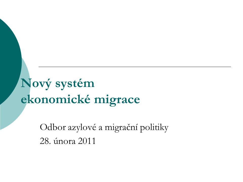Nový systém ekonomické migrace