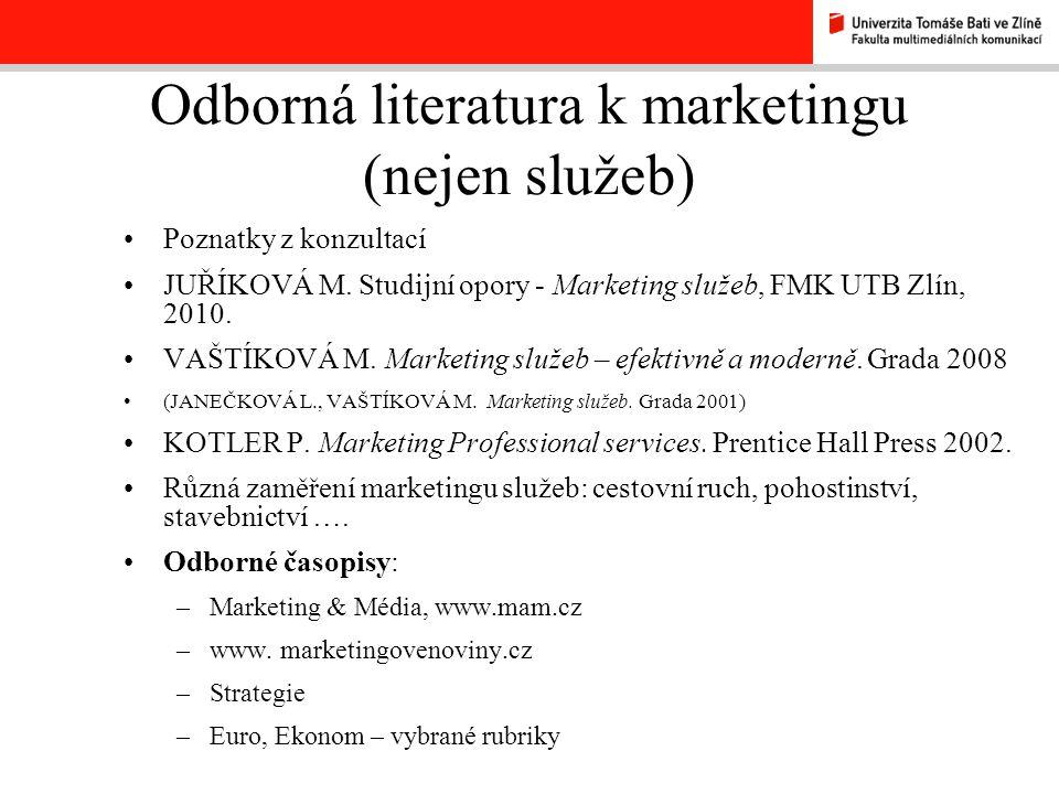 Odborná literatura k marketingu (nejen služeb)
