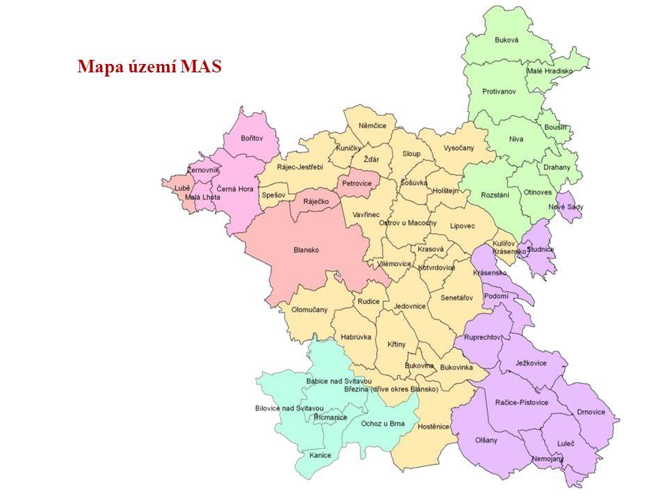 Mapa území MAS Ing. Jozef Jančo MAS Moravský kras o.s. maanžer