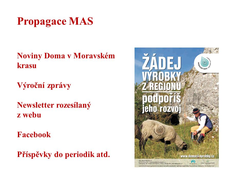 Propagace MAS Noviny Doma v Moravském krasu Výroční zprávy