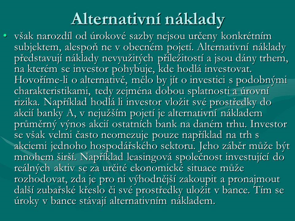 Alternativní náklady