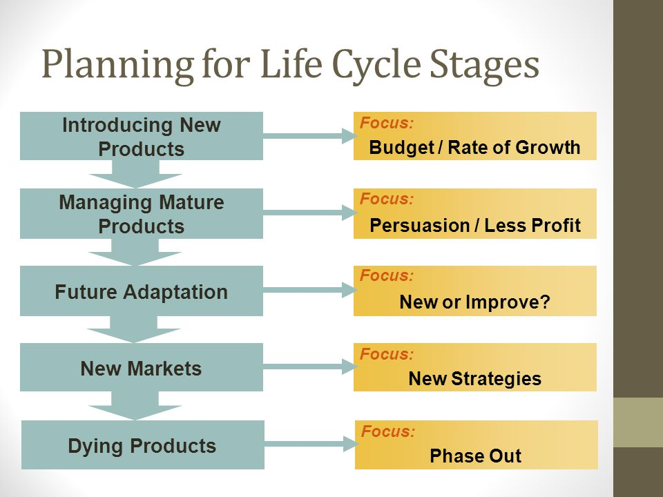 Planning for Life Cycle Stages