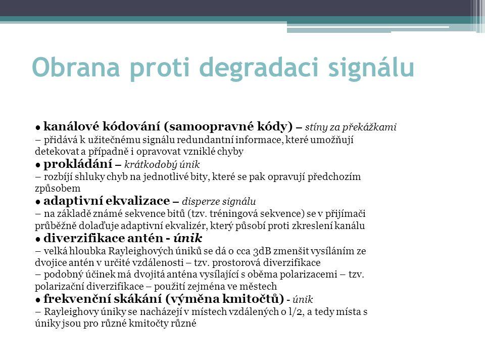 Obrana proti degradaci signálu