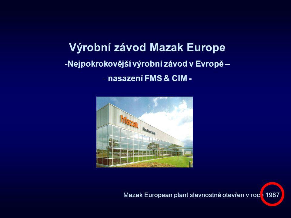Výrobní závod Mazak Europe Nejpokrokovější výrobní závod v Evropě –