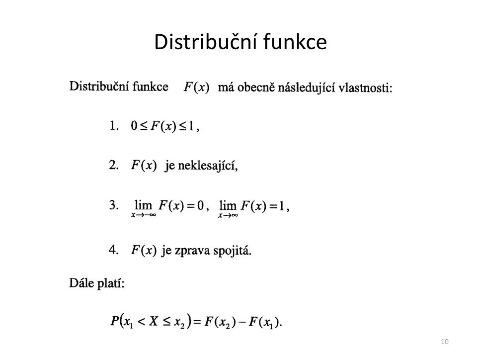 Distribuční funkce