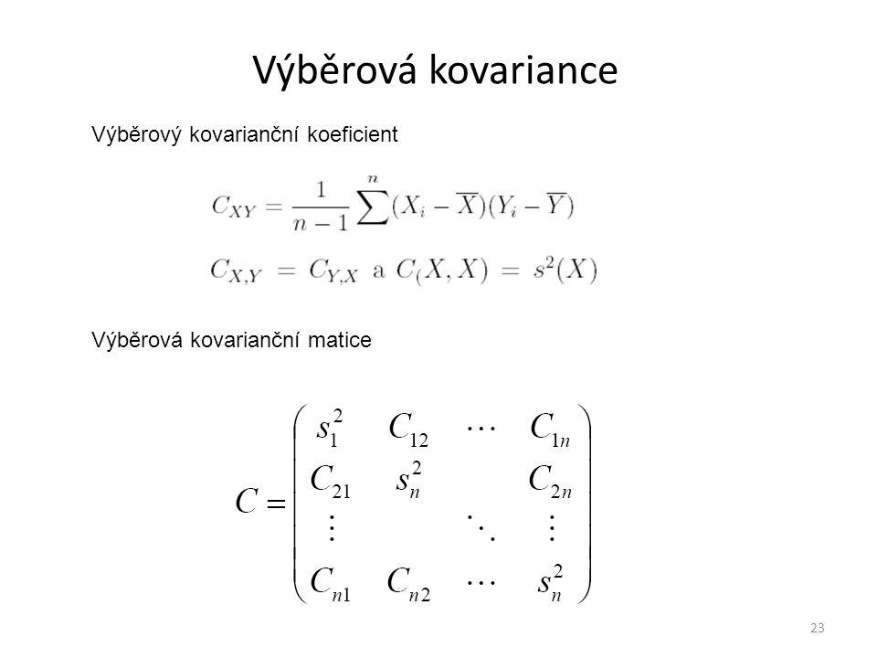 Výběrová kovariance Výběrový kovarianční koeficient