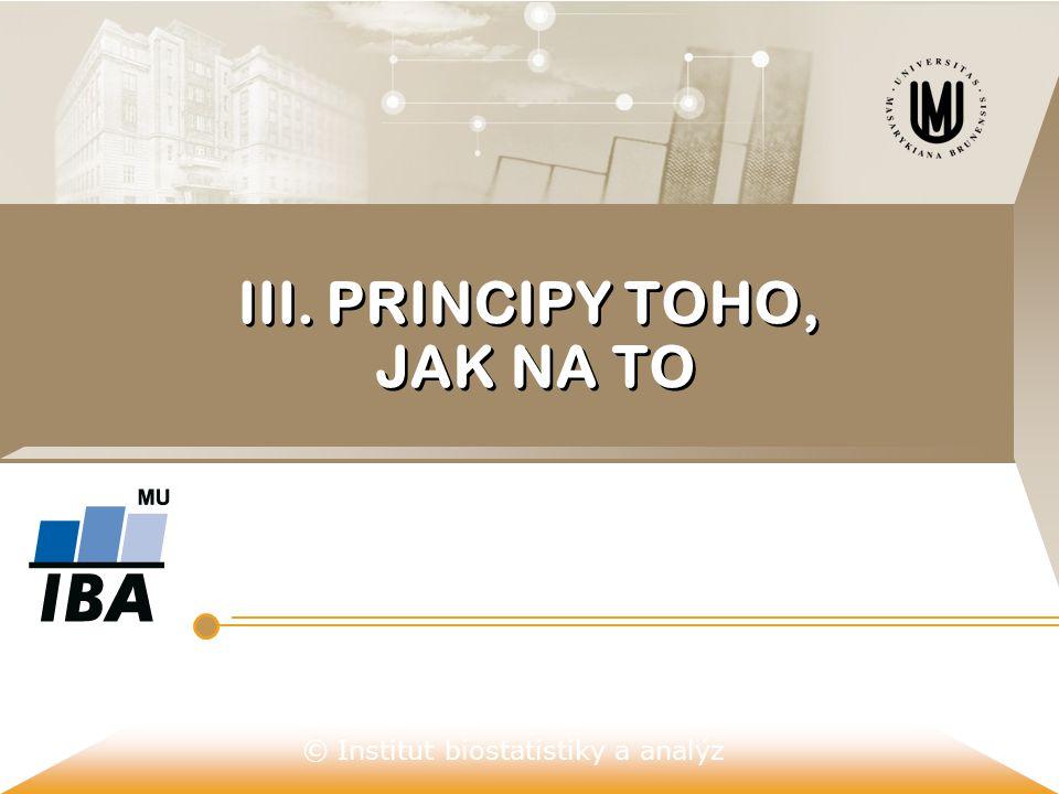 III. PRINCIPY TOHO, JAK NA TO