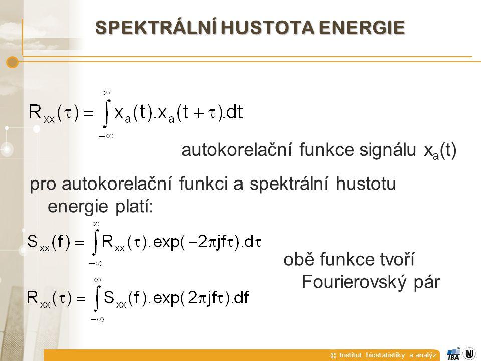 SPEKTRÁLNÍ HUSTOTA ENERGIE