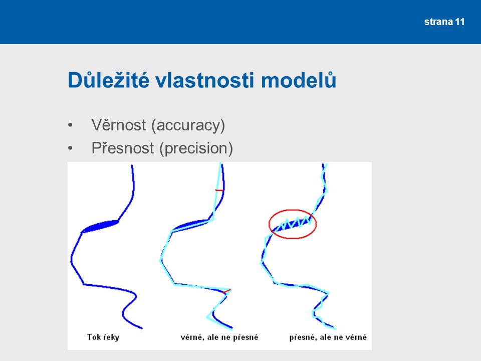 Důležité vlastnosti modelů
