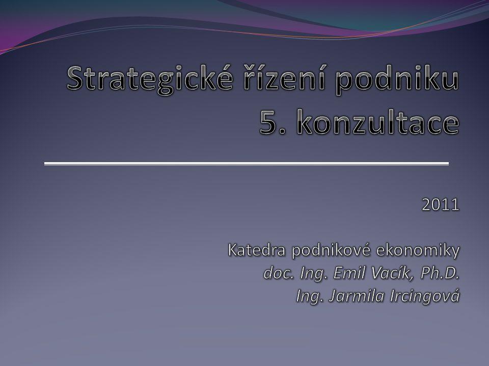 Strategické řízení podniku 5. konzultace 2011