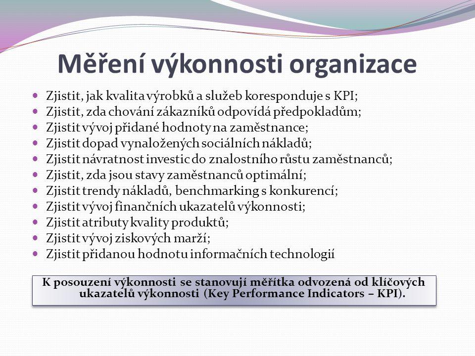 Měření výkonnosti organizace