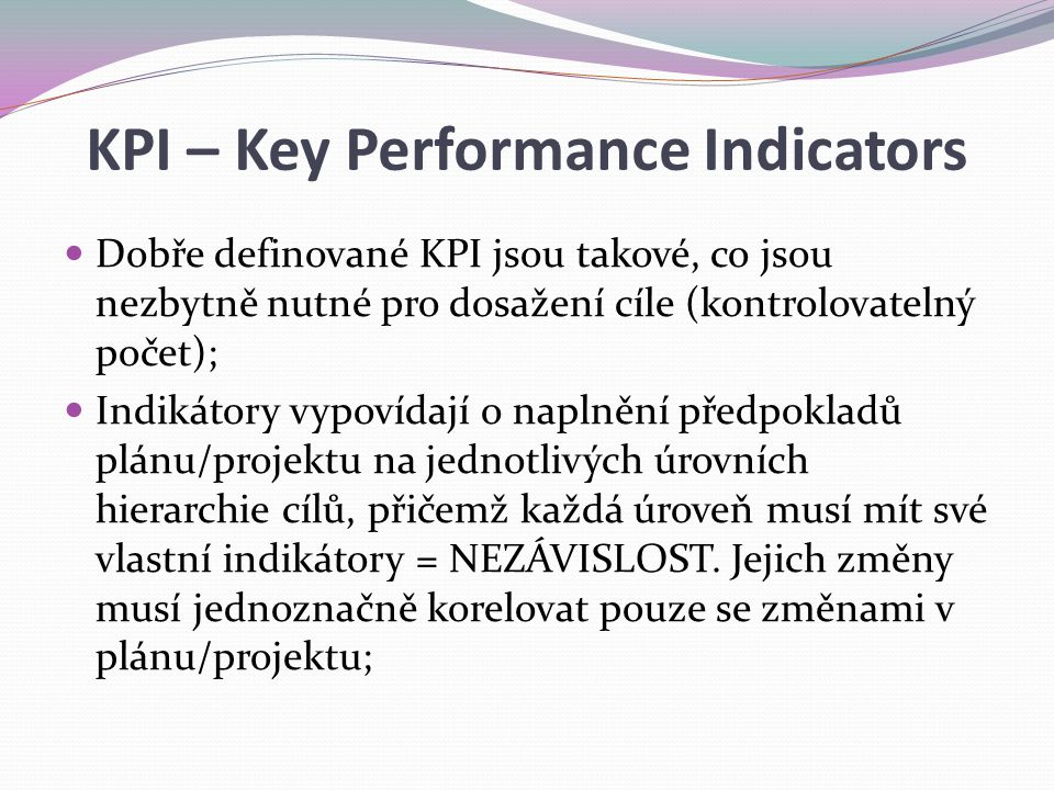 KPI – Key Performance Indicators