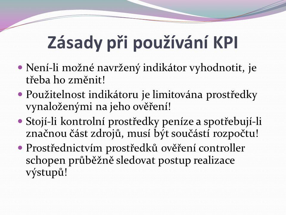 Zásady při používání KPI