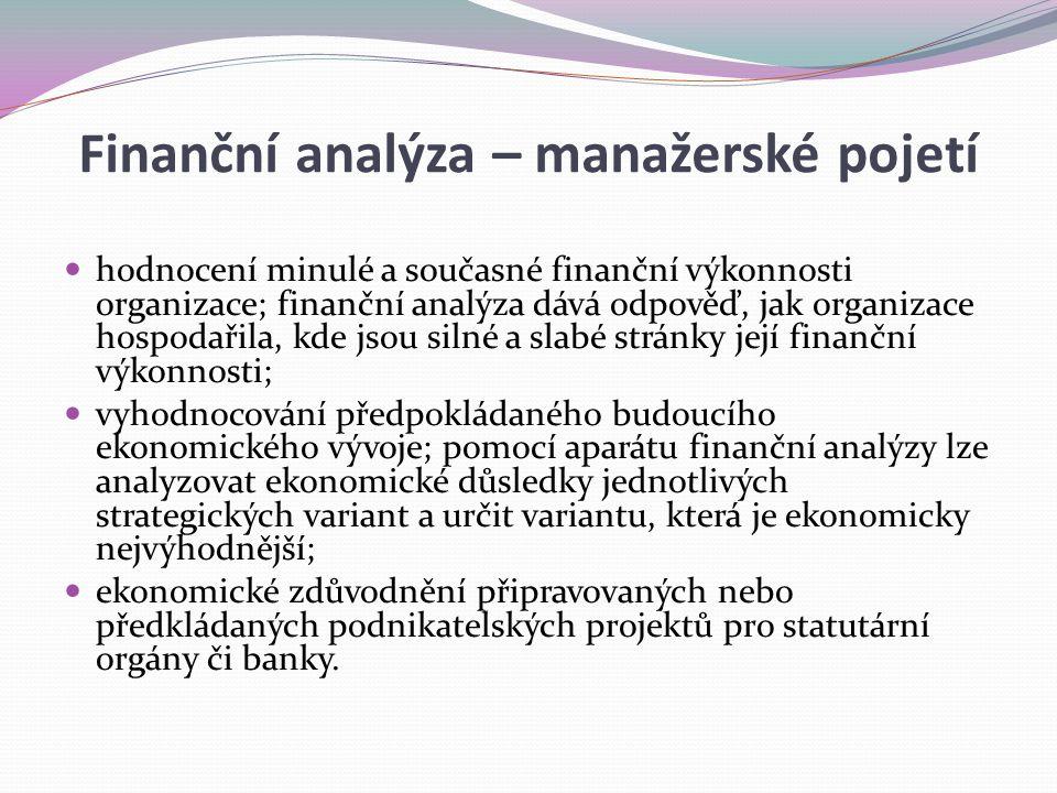 Finanční analýza – manažerské pojetí