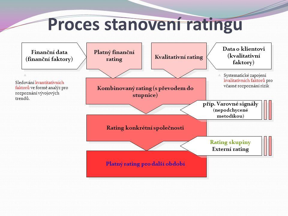 Proces stanovení ratingu