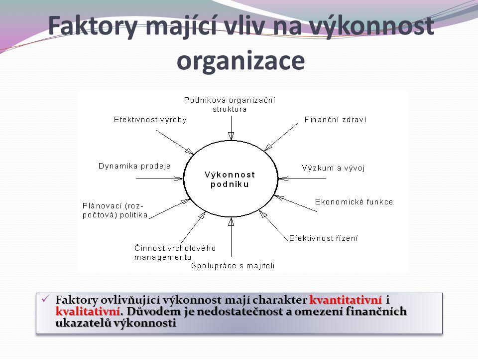 Faktory mající vliv na výkonnost organizace