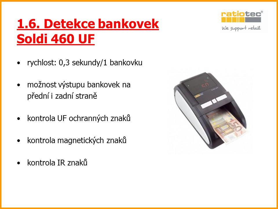 1.6. Detekce bankovek Soldi 460 UF