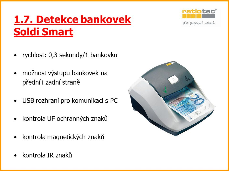 1.7. Detekce bankovek Soldi Smart