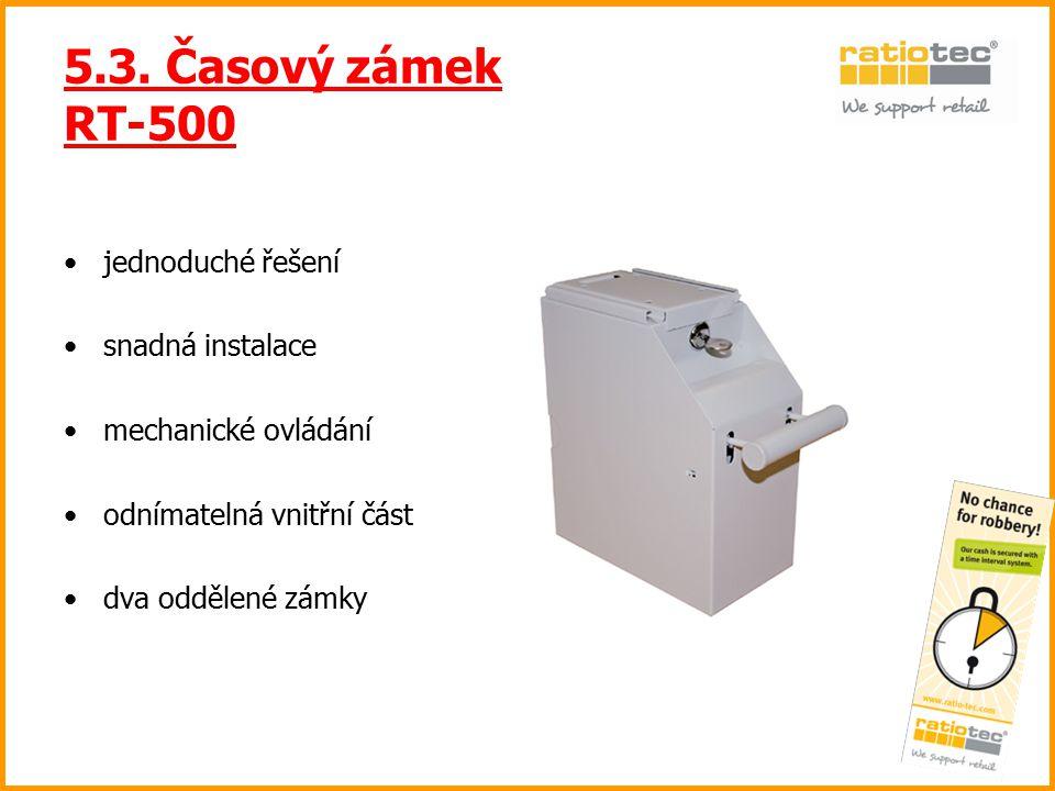 5.3. Časový zámek RT-500 jednoduché řešení snadná instalace
