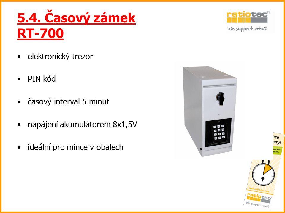 5.4. Časový zámek RT-700 elektronický trezor PIN kód