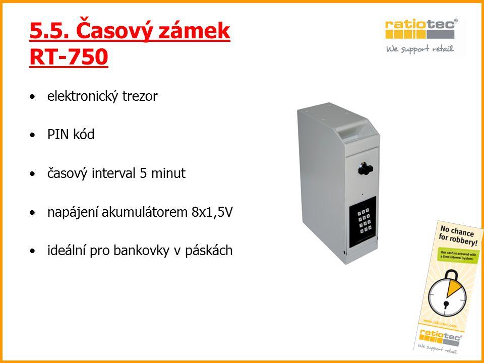 5.5. Časový zámek RT-750 elektronický trezor PIN kód