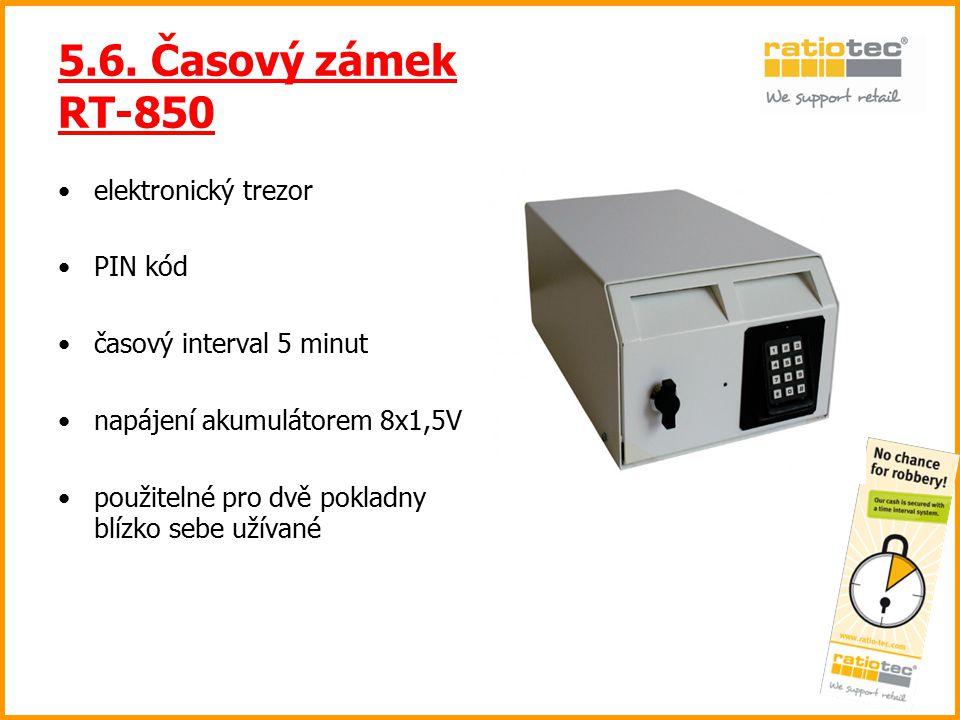 5.6. Časový zámek RT-850 elektronický trezor PIN kód