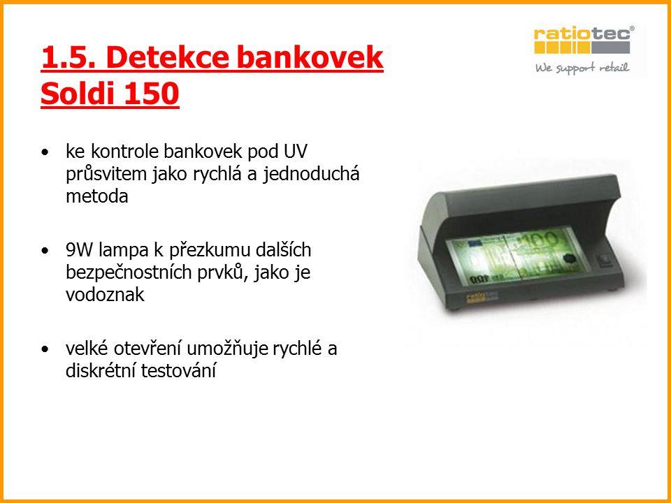 1.5. Detekce bankovek Soldi 150