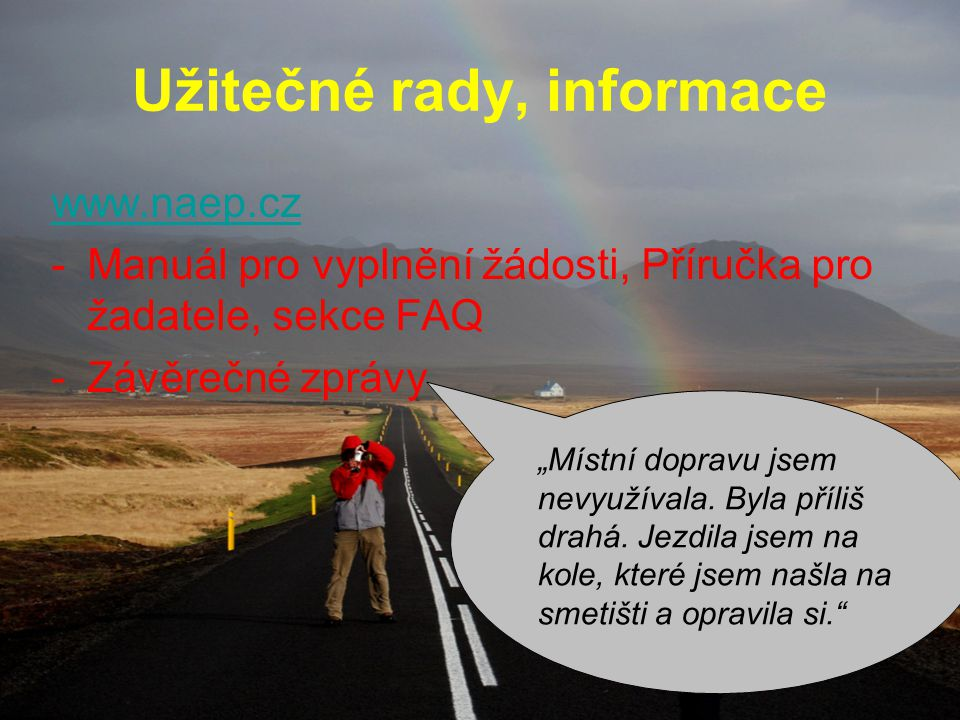 Užitečné rady, informace