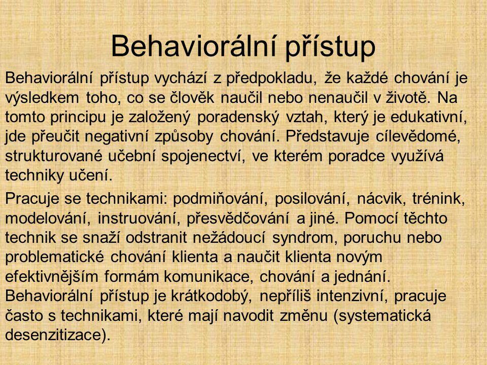 Behaviorální přístup