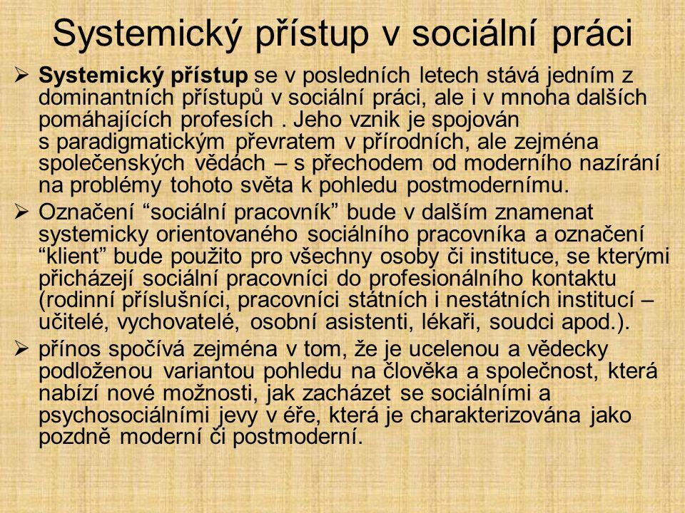Systemický přístup v sociální práci