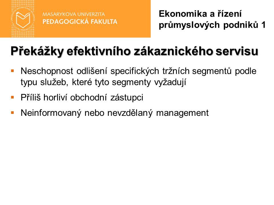 Překážky efektivního zákaznického servisu