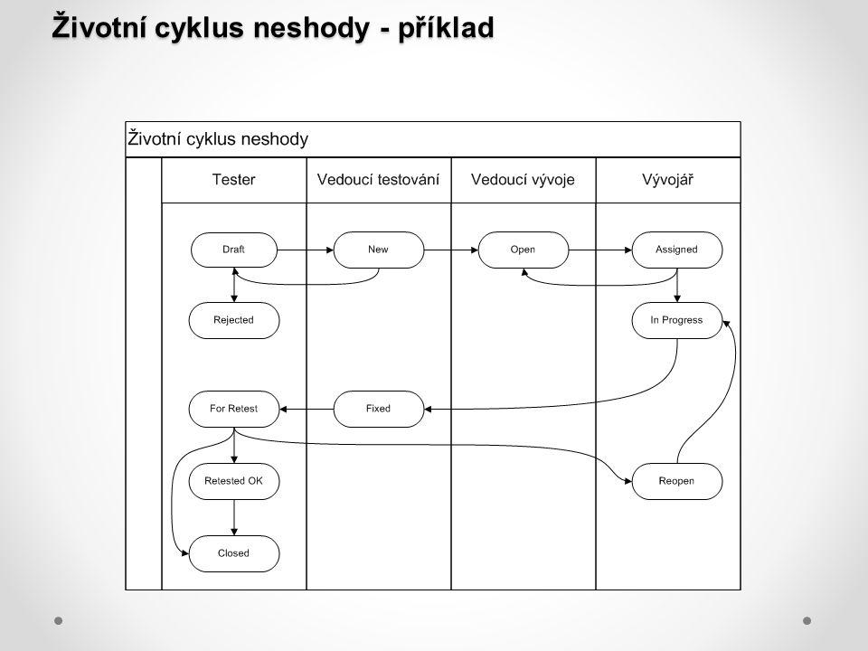 Životní cyklus neshody - příklad