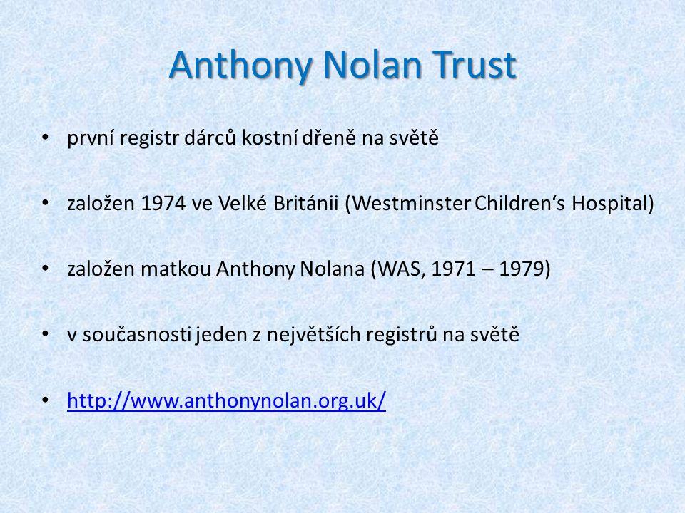 Anthony Nolan Trust první registr dárců kostní dřeně na světě