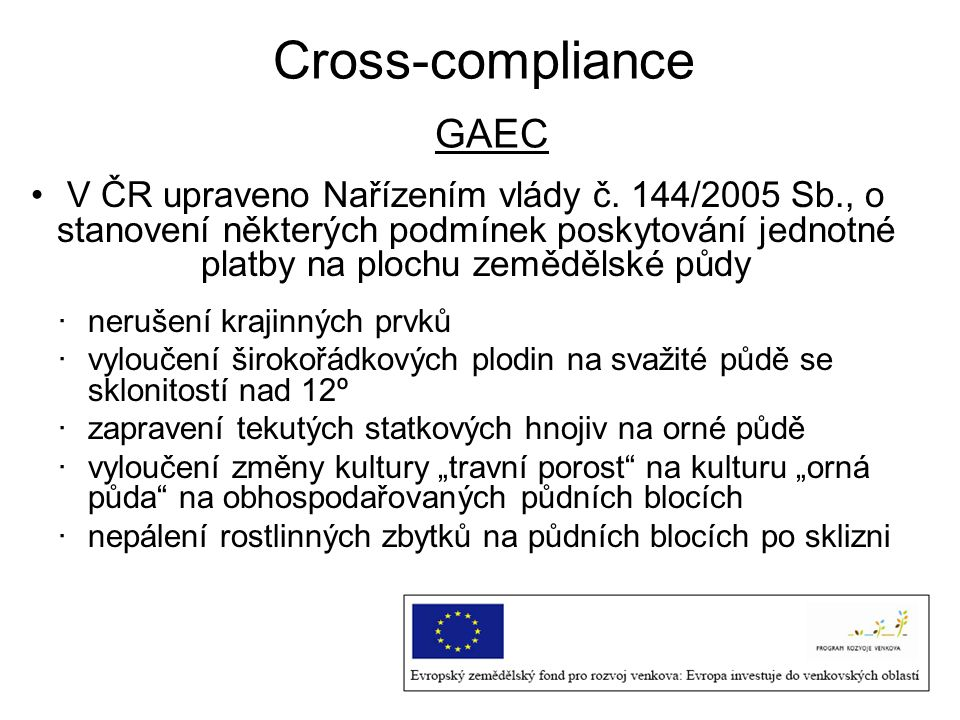 Cross-compliance GAEC