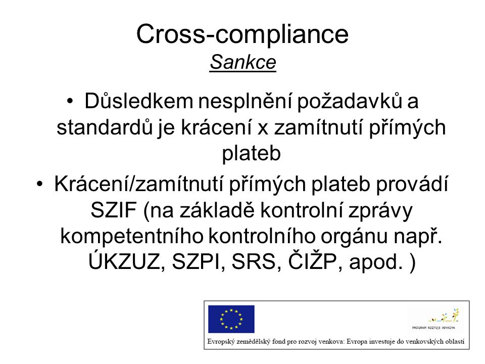 Cross-compliance Sankce