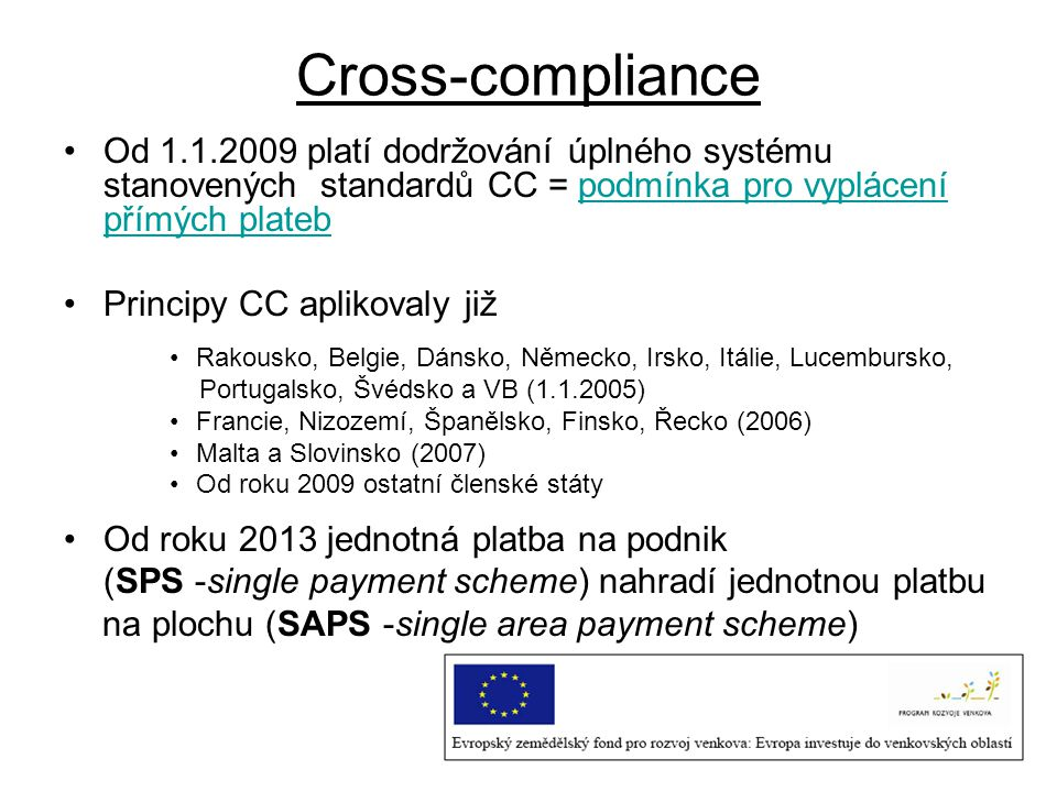 Cross-compliance