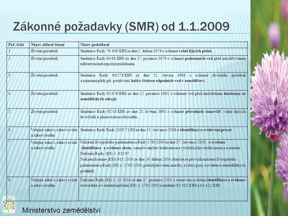 Zákonné požadavky (SMR) od 1.1.2009
