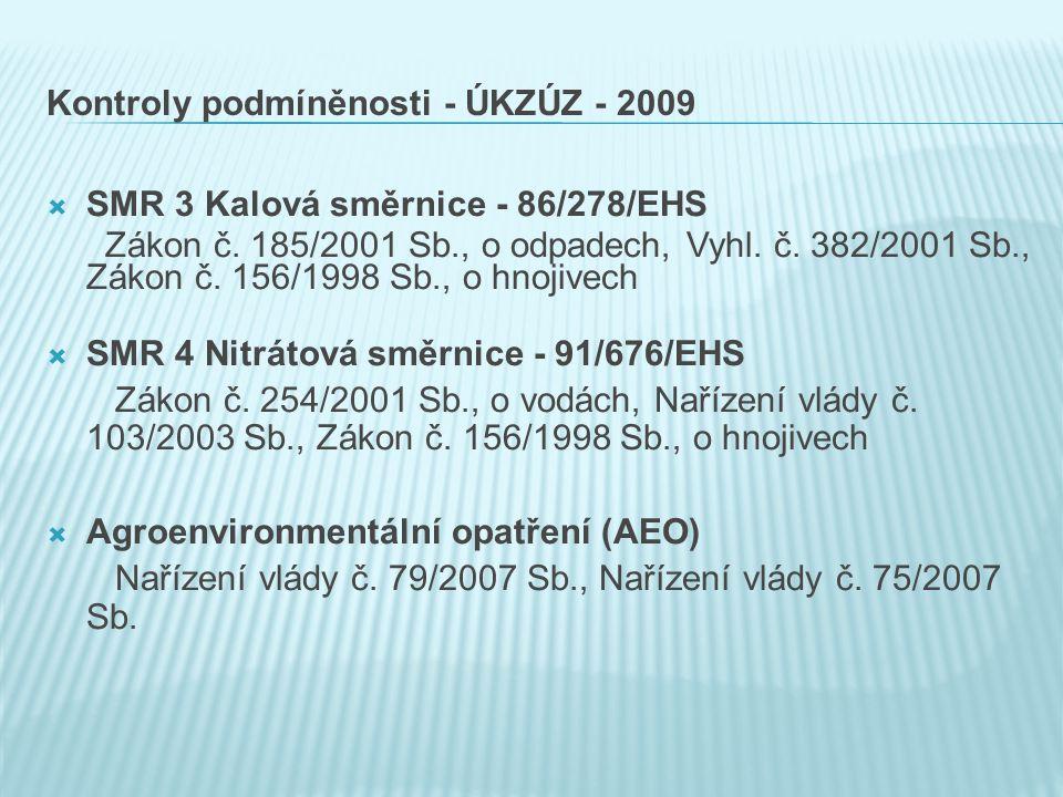 Kontroly podmíněnosti - ÚKZÚZ - 2009