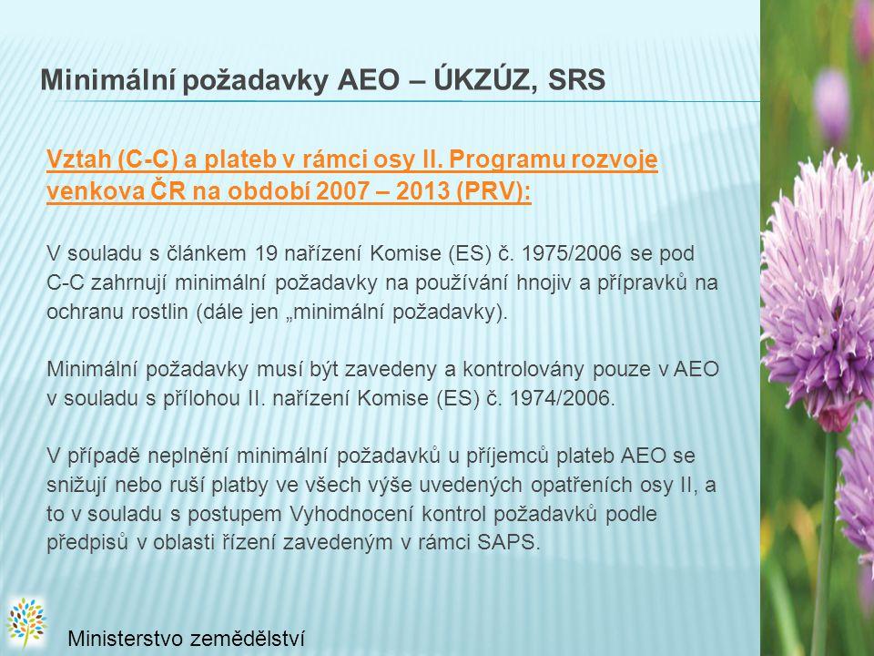 Minimální požadavky AEO – ÚKZÚZ, SRS