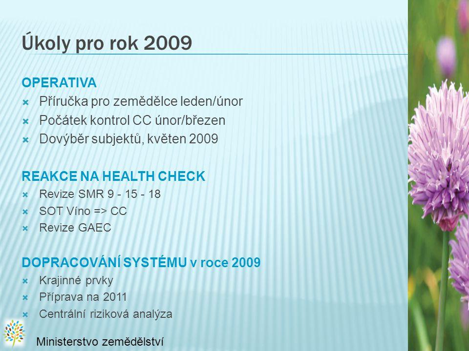 Úkoly pro rok 2009 OPERATIVA Příručka pro zemědělce leden/únor