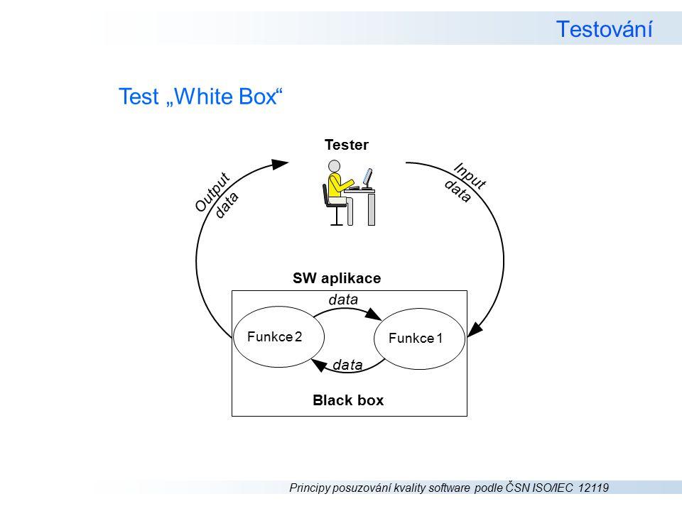 """Testování Test """"White Box Tester SW aplikace d a t I n p u O"""