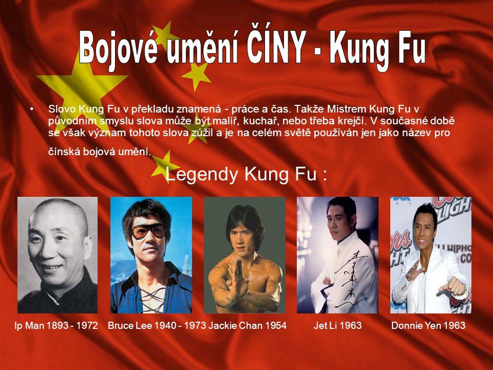 Bojové umění ČÍNY - Kung Fu