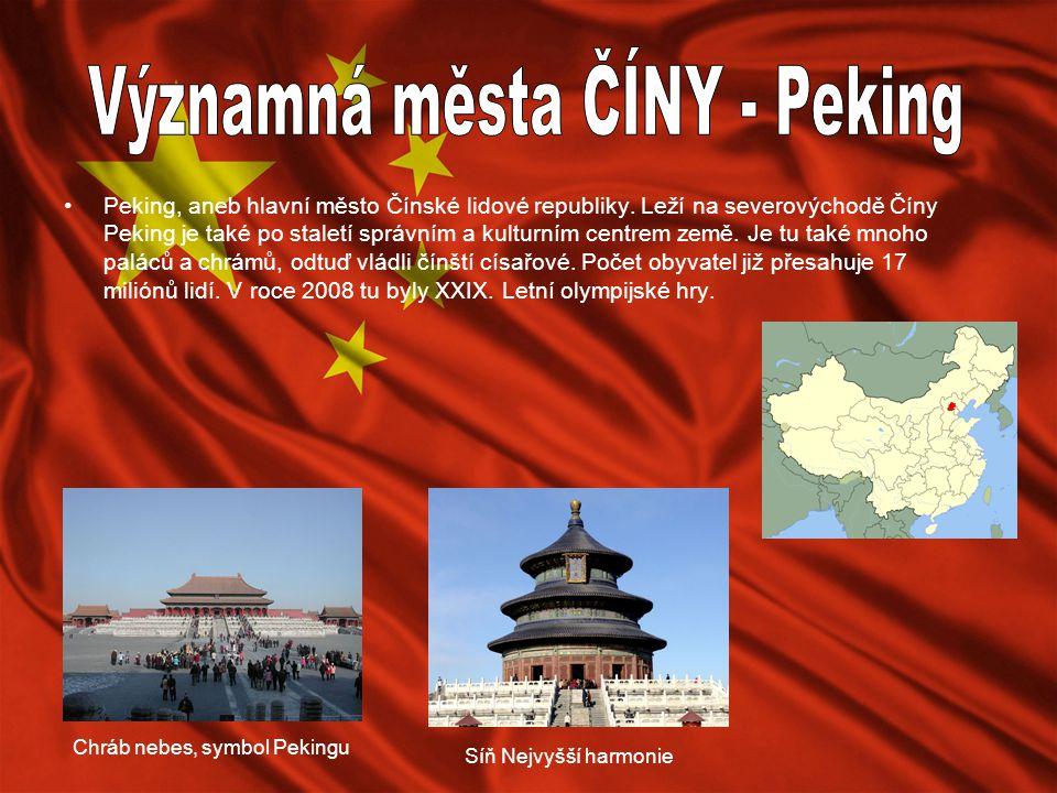 Významná města ČÍNY - Peking