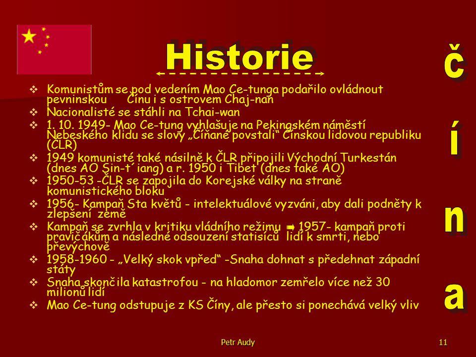 Historie Komunistům se pod vedením Mao Ce-tunga podařilo ovládnout pevninskou Čínu i s ostrovem Chaj-nan.