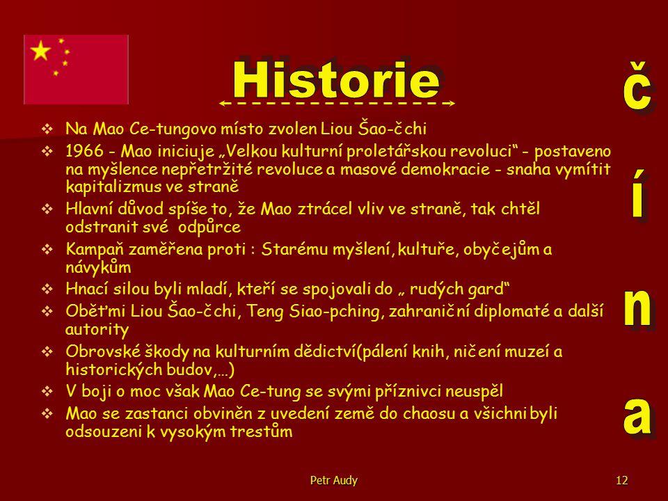 Historie čína Na Mao Ce-tungovo místo zvolen Liou Šao-čchi
